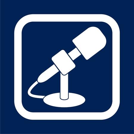 Microphone icon - vector Illustration