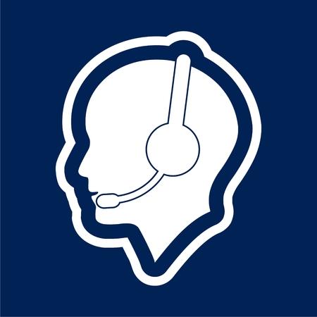 A Vector customer service icon, Call Center Man Icon