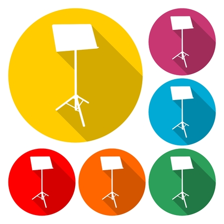 Music Stand Vector Silhouette - Illustration.