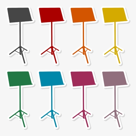 Music Stand Vector Silhouette - Illustration Banque d'images - 92650316