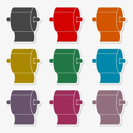 Roll of Toilet Paper Icon Flat Graphic Design Illustration set Illustration