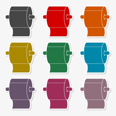 Roll of Toilet Paper Icon Flat Graphic Design Illustration set Vettoriali