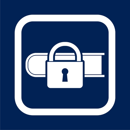 Secured documents icon, book with lock icon illustration.