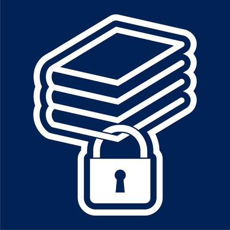 Secured Documents icon, Book with lock icon - Illustration Ilustrace