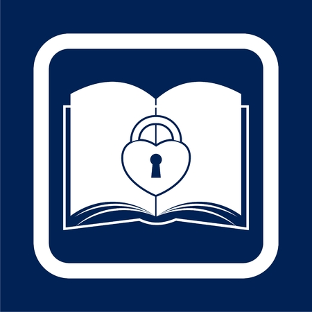 Book with lock icon, Secured Documents icon - Illustration