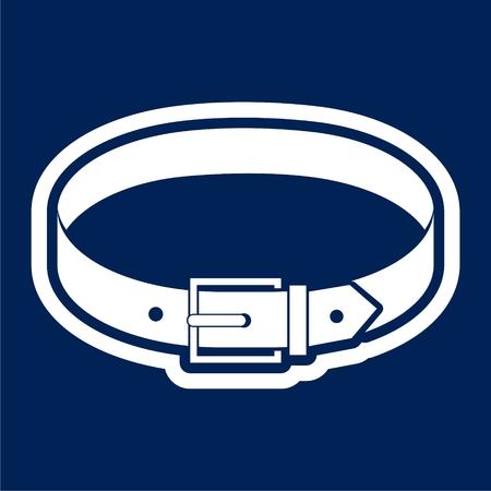 Belt Icon Flat Graphic Design - Illustration