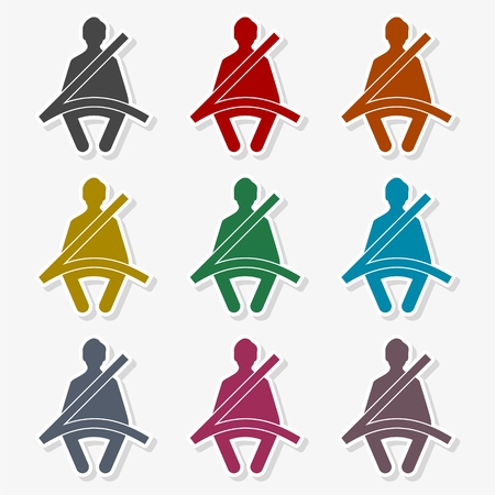 Seat Belt icon - vector Illustration