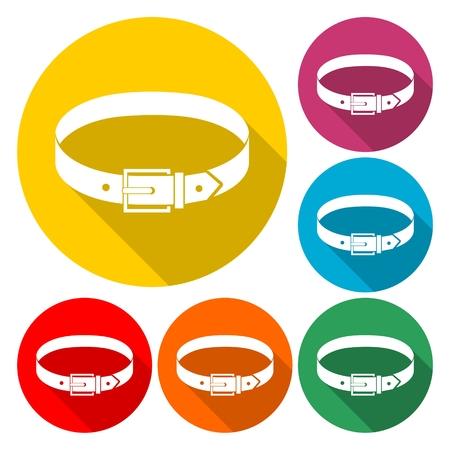 Belt icon flat graphic design. Illustration Stock Vector - 92878621