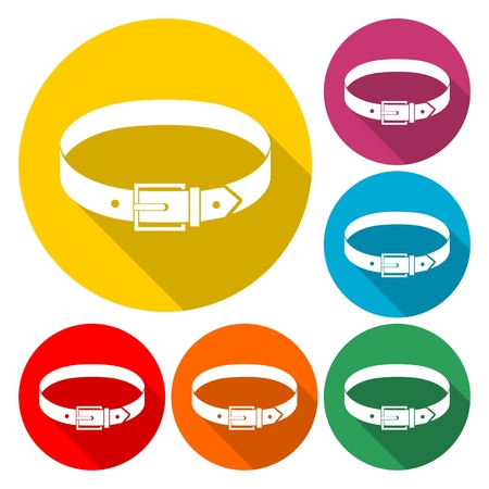 Belt icon flat graphic design. Illustration
