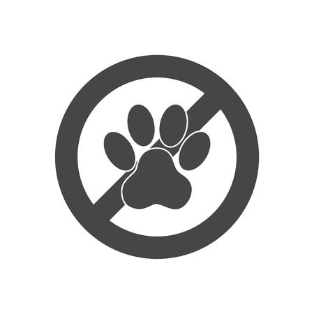 Pas d'animaux signe - Illustration Banque d'images - 92934578
