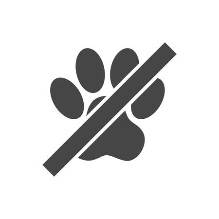 No Pets Sign - Illustration Illustration