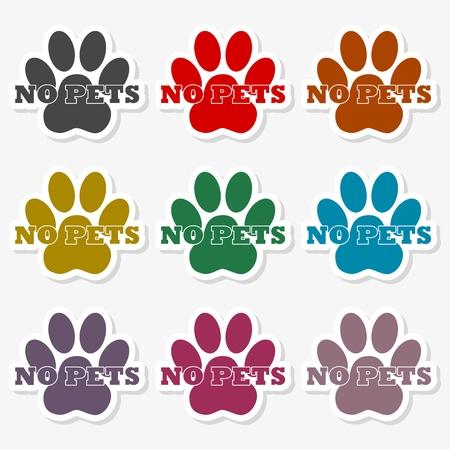 No Dog Sign - Illustration Illustration
