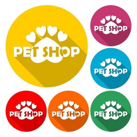 Vector logo design template for pet shops - Illustration