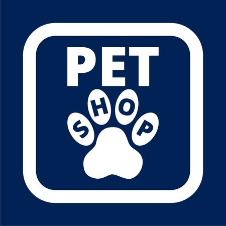 Vector design template for pet shops.