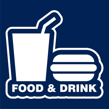 Foods and Drinks Icon - Illustration. Çizim