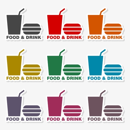 Foods and drinks icon illustration. Illustration