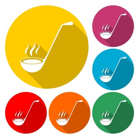 Ladle Icon Flat Graphic Design - Illustration
