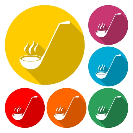Ladle Icon Flat Graphic Design - Illustration