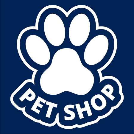 Pet store or shop icon - Illustration