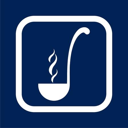 Ladle icon flat graphic design illustration.