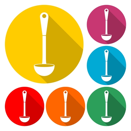 Ladle icon flat graphic design illustration.