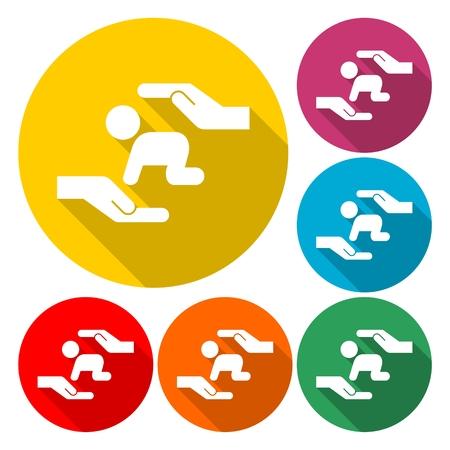 Logo of child care, motherhood and childbearing - Illustration
