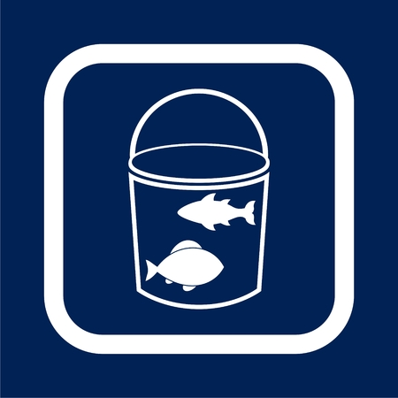Bucket with fish - Illustration