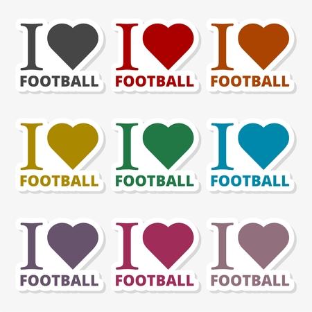 I love soccer (football) - Illustration