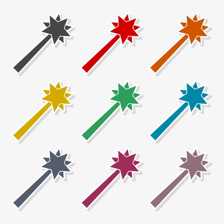 Magic wand vector icon - Illustration Illustration