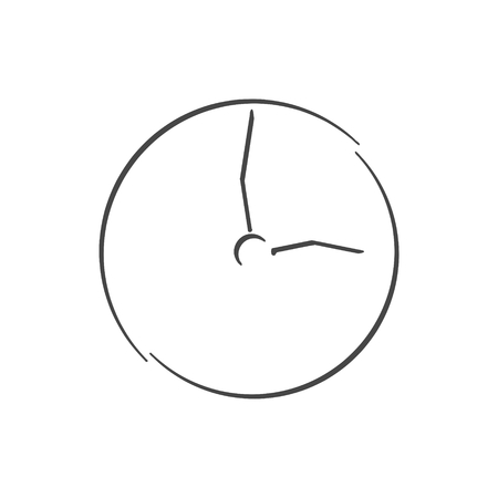 Clock icon - illustration