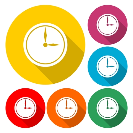 Clock colorful icon illustration.