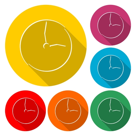 Clock icon - Vector illustration. Illustration