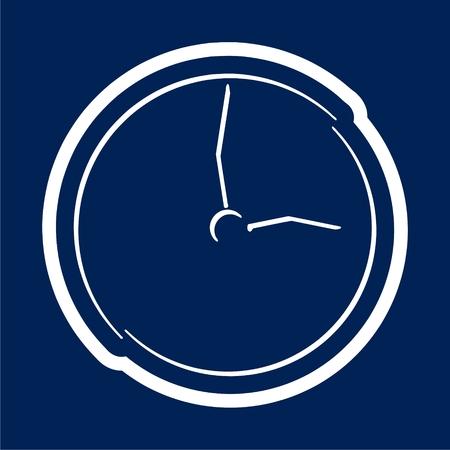 Clock icon - Vector illustration. Stock Illustratie
