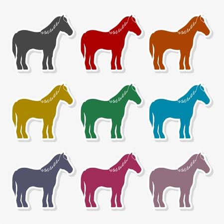Horse silhouette Vector Illustration Vettoriali