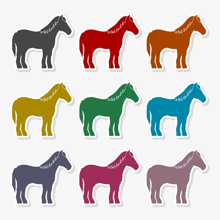 Horse silhouette Vector Illustration Stock Illustratie