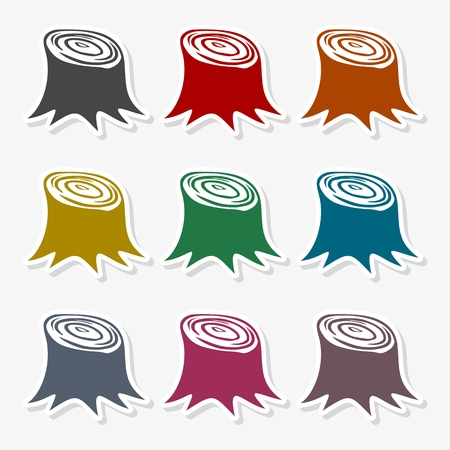 Root of tree icon vector illustration
