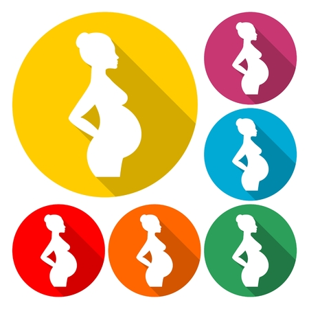 Silhouette pregnant woman - Illustration