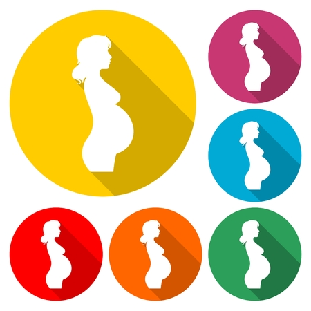Silhouette pregnant woman - Illustration