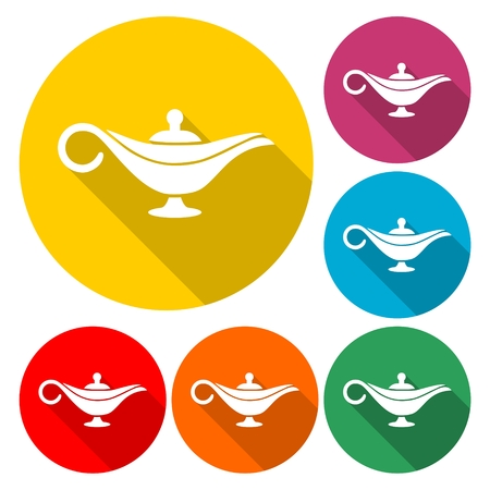 Magic lamp icon - Illustration Vectores
