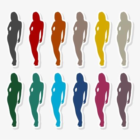 Fashion model silhouette - Illustration  イラスト・ベクター素材