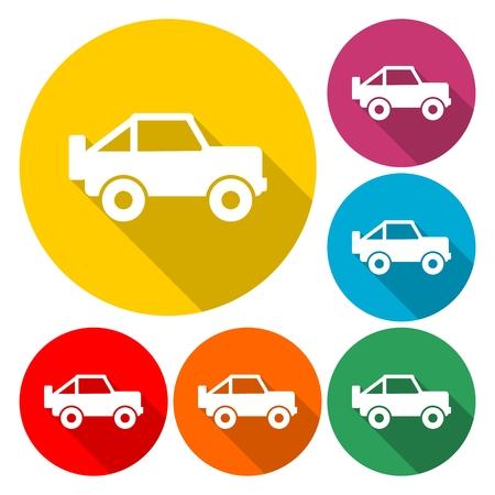 Offroad car - Illustration Illusztráció