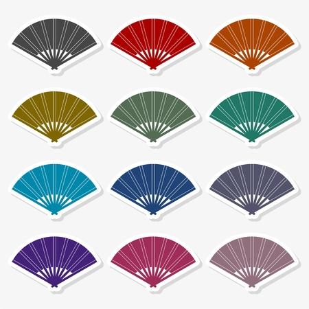 Traditional Folding Fans - Illustration
