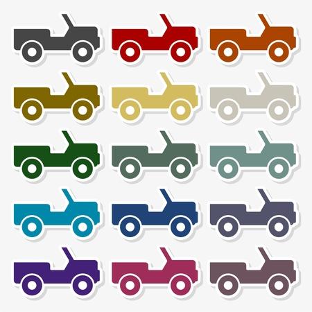 Offroad car vector flat icon - Illustration Illustration