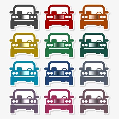 Offroad car - Vector illustration.