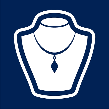 Necklace flat icon - Illustration Illustration