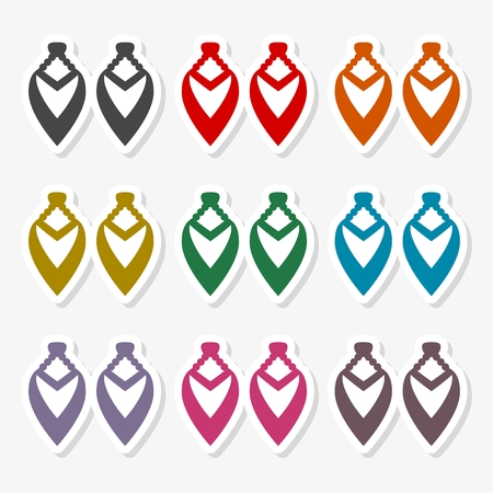 Earrings icon - Illustration
