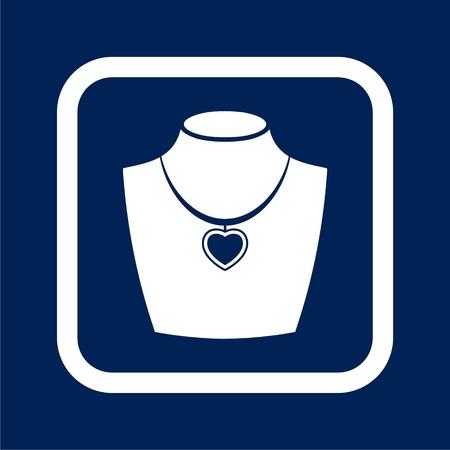Necklace flat icons set - Illustration Illustration