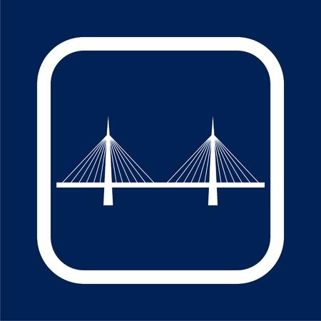 Bridge icon - vector Illustration Illustration