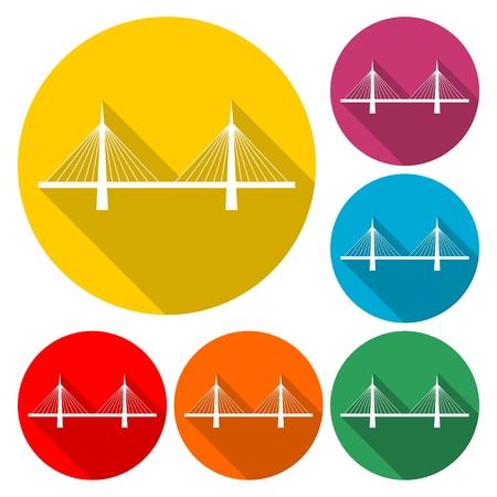 Bridge icon - vector Illustration 일러스트