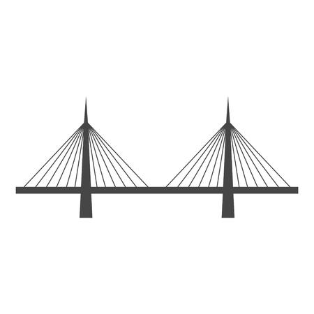 Bridge icon in vector Illustration.